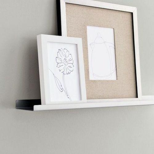 gestalten sie ihre kunstgalerie mit bilderrahmen an der wand k che. Black Bedroom Furniture Sets. Home Design Ideas