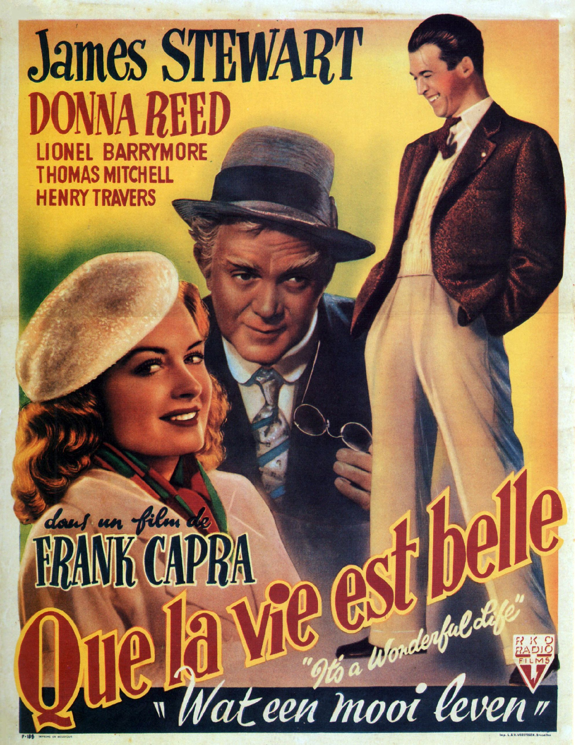Its A Wonderful Life French Poster Frank Capra Pinterest