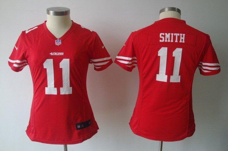 Womens Nike NFL Jerseys San Francisco 49ers Alex Smith #11 Red ...