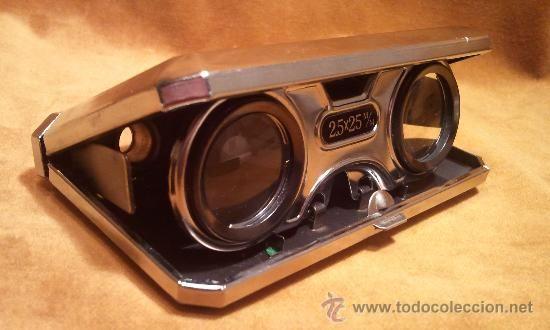 Bonitos binoculares o prismáticos plegables de la marca King (Japón). (Antigüedades - Técnicas - Instrumentos Ópticos - Prismáticos Antiguos...
