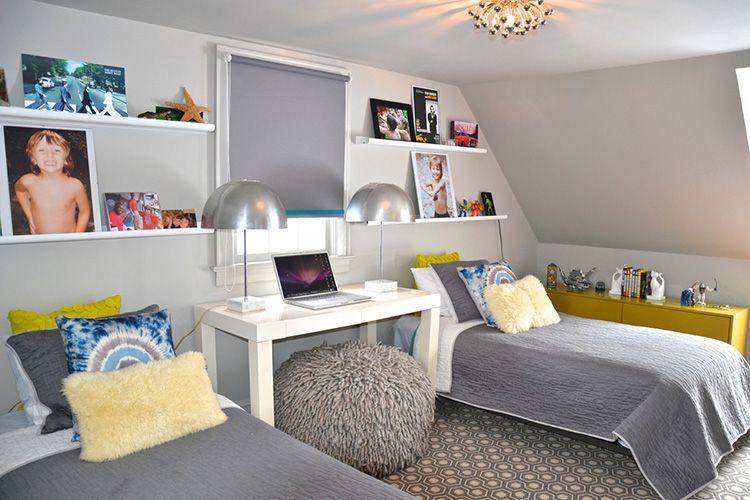 shared boys bedroom. ideas for a teenager room. gray. jugendzimmer. grau. jungen.