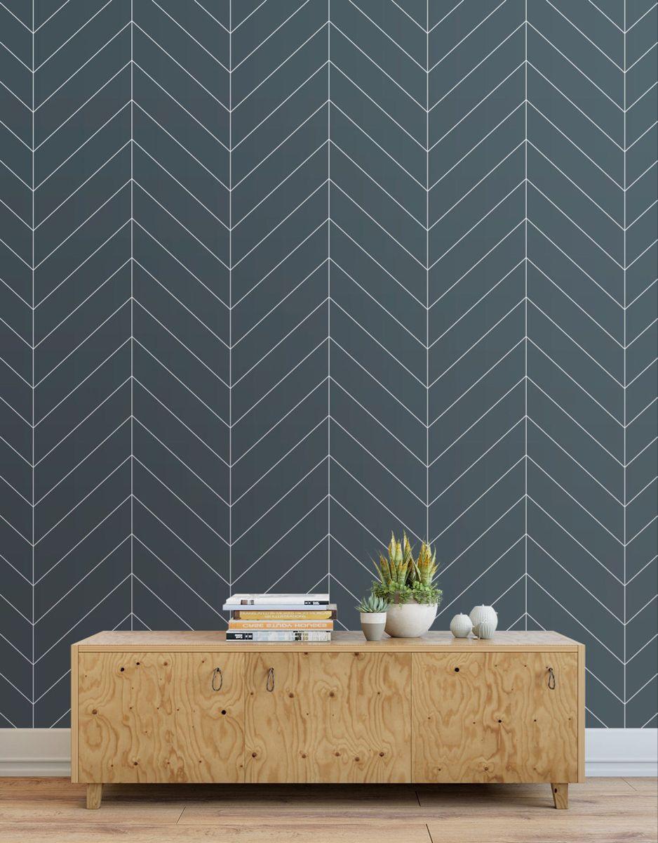 Herringbone Wallpaper Peel And Stick Tiles Modern Wallpaper Etsy Herringbone Wallpaper Stick On Tiles Grey Herringbone Wallpaper