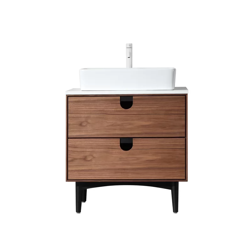 21++ 30 inch mid century modern bathroom vanity model