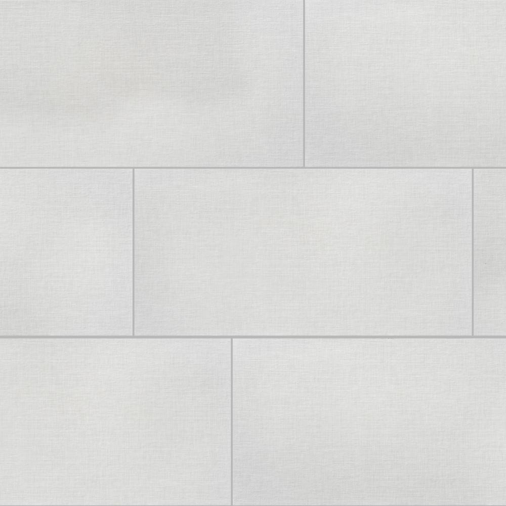 Florida Tile Home Collection Royal Linen White 12 In X 24 In Porcelain Floor And Wall Tile 13 3 Sq Ft Ca Porcelain Flooring Flooring Floor And Wall Tile