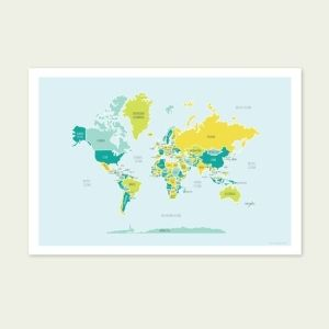 World map english muffin shop 25 map prints poster by maura world map english muffin shop 25 map prints poster by maura gumiabroncs Image collections