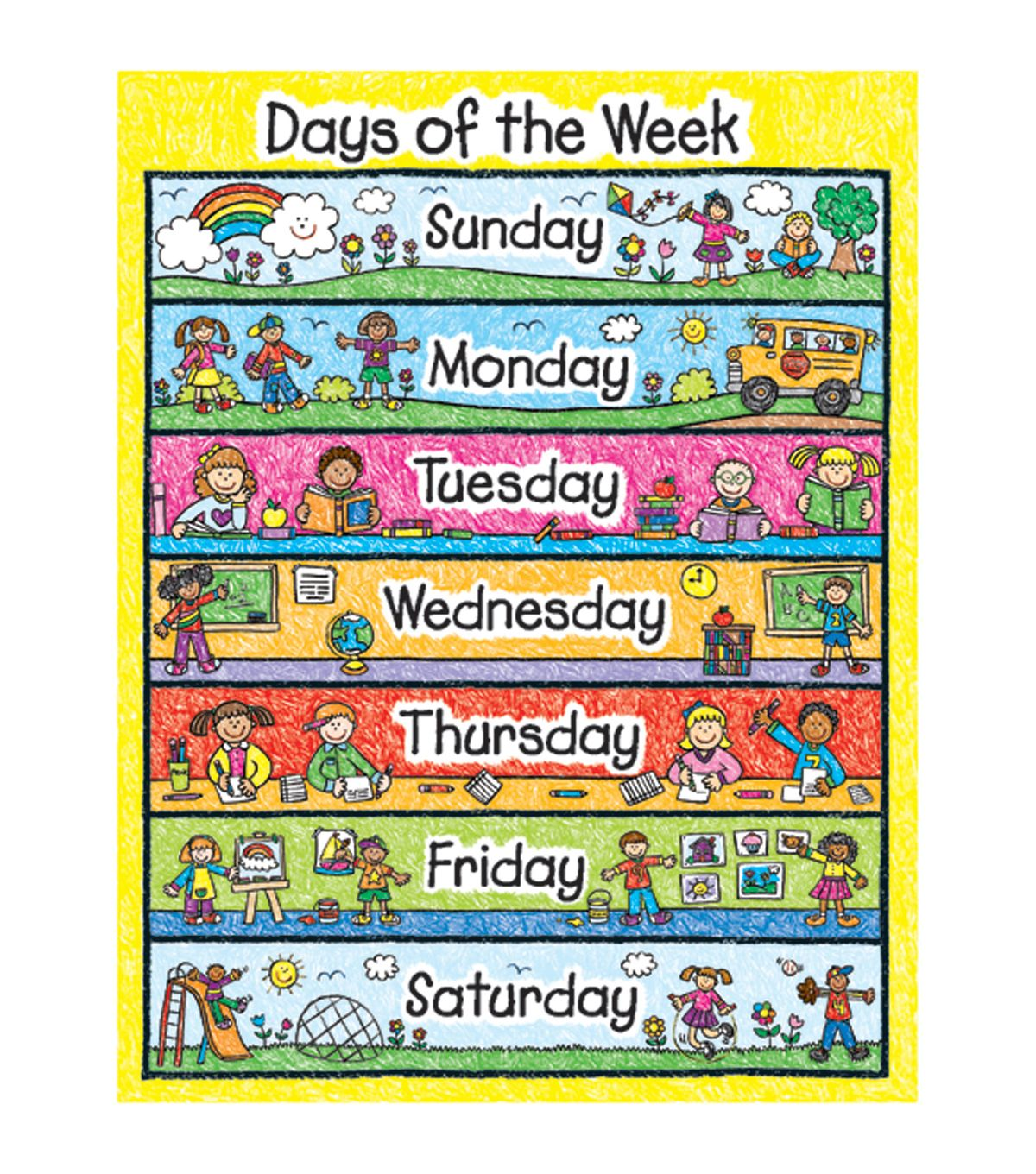 Carson Dellosa Days Of The Week Chart 6pk