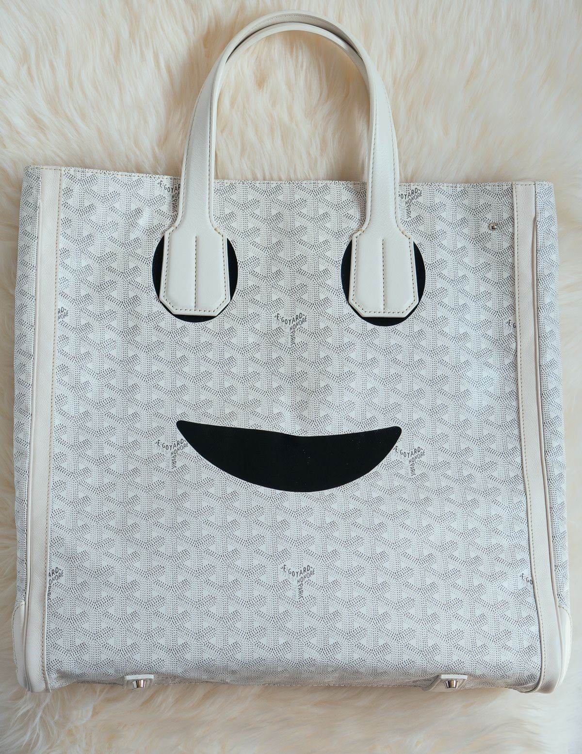607913617 Don't Be Shy—Tell 'em How You Really Feel With the Goyard Voltaire Smile  Tote