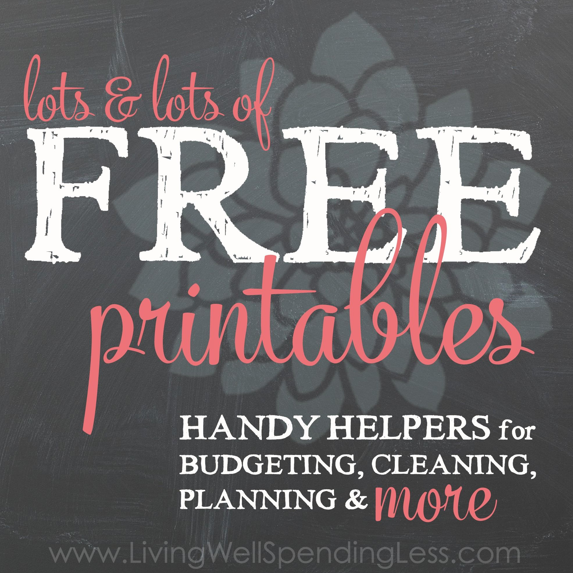 Free Printables Square Living Well Spending Less With