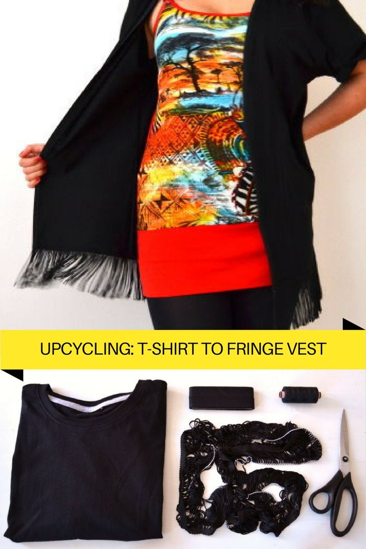8 DIY Fashion Upcycling Ideen | Kimono-jacke, Fransen und Upcycling ...
