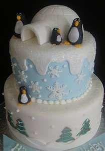 Igloo & Penguin Cake