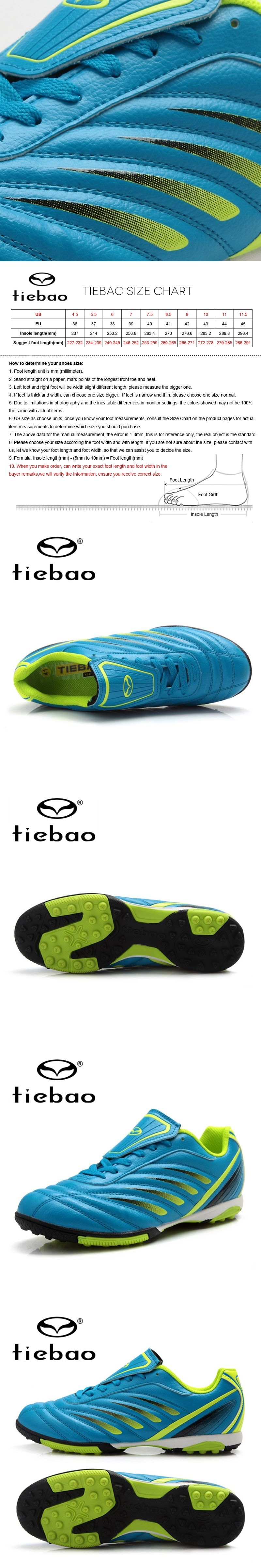 fdd4d3e523a TIEBAO Professional Outdoor Adult Soccer Shoes Men Women TF Turf Rubber  Soles Football Boots Athletic Training