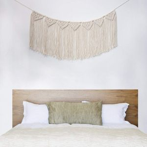 Wholesale Handmade Wall Decor Living Room Bedroom Macrame Woven Wall Hanging Curtain Fringe Garland Banner, China Supplier #curtainfringe