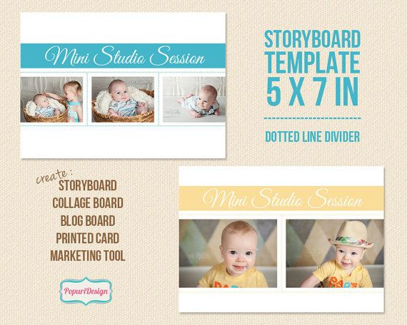 X Storyboard Template Photo Card Template By Popuridesign