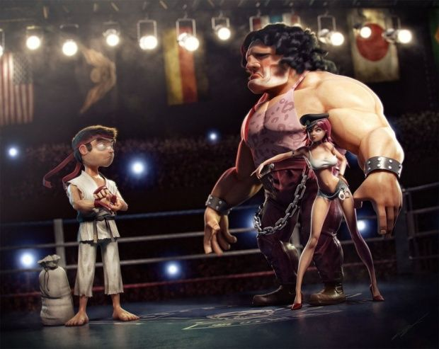 3D characters by Victor Hugo Queiroz