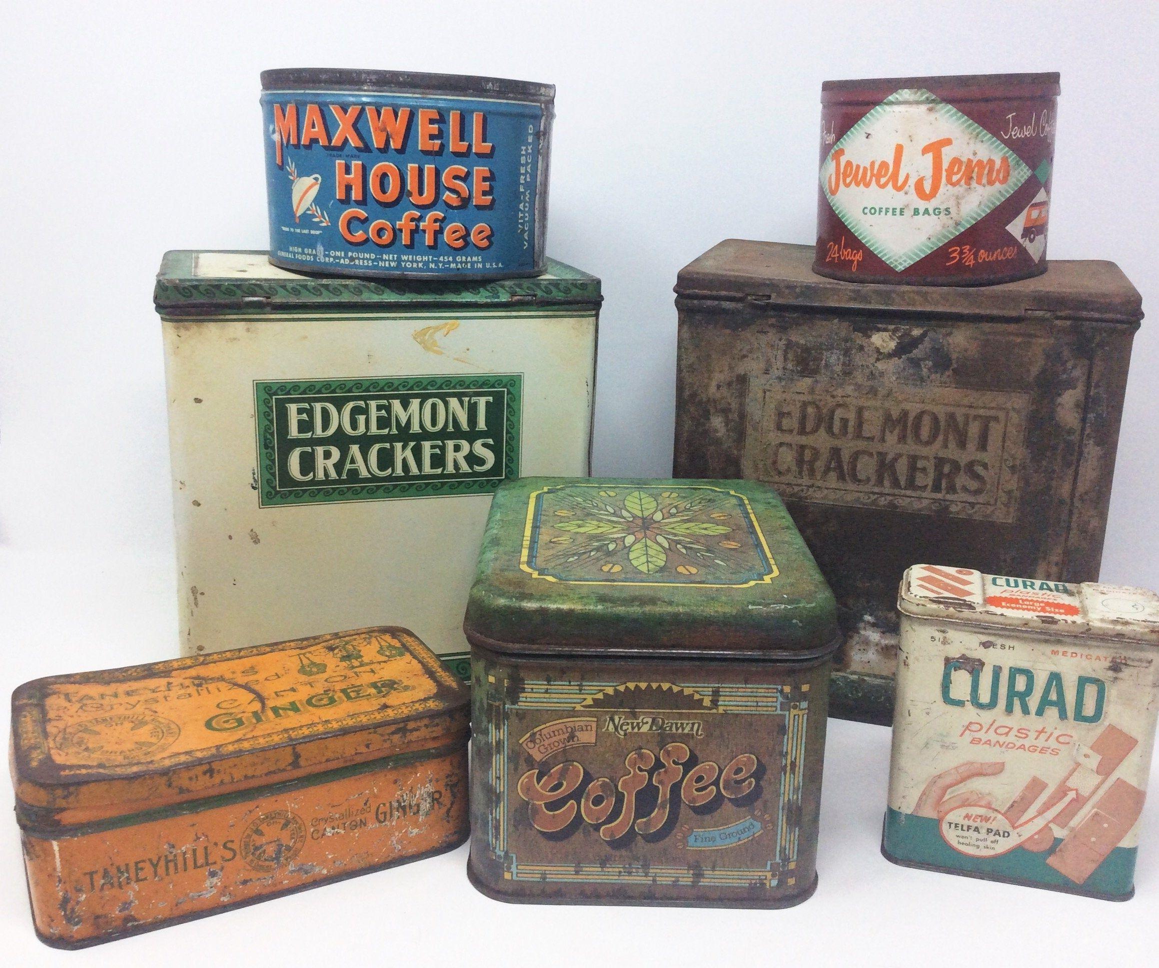 Advertising Tins Rustic Farmhouse
