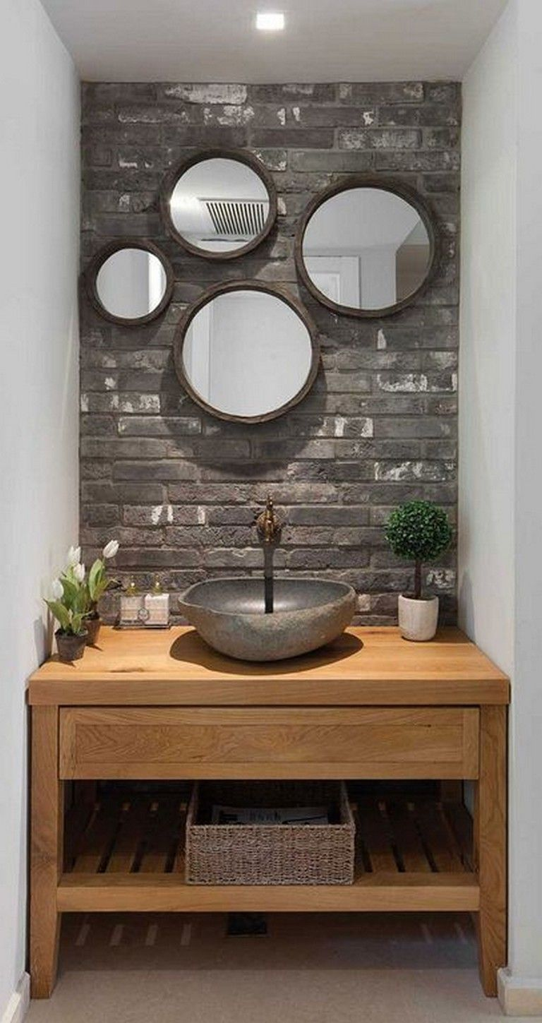 20 Awesome Small Wooden Vanity Ideas Modern Bathroom Bathroomideas Bathroomremodel Bathroomdesign Wooden Vanity Wooden Bathroom Modern Bathroom