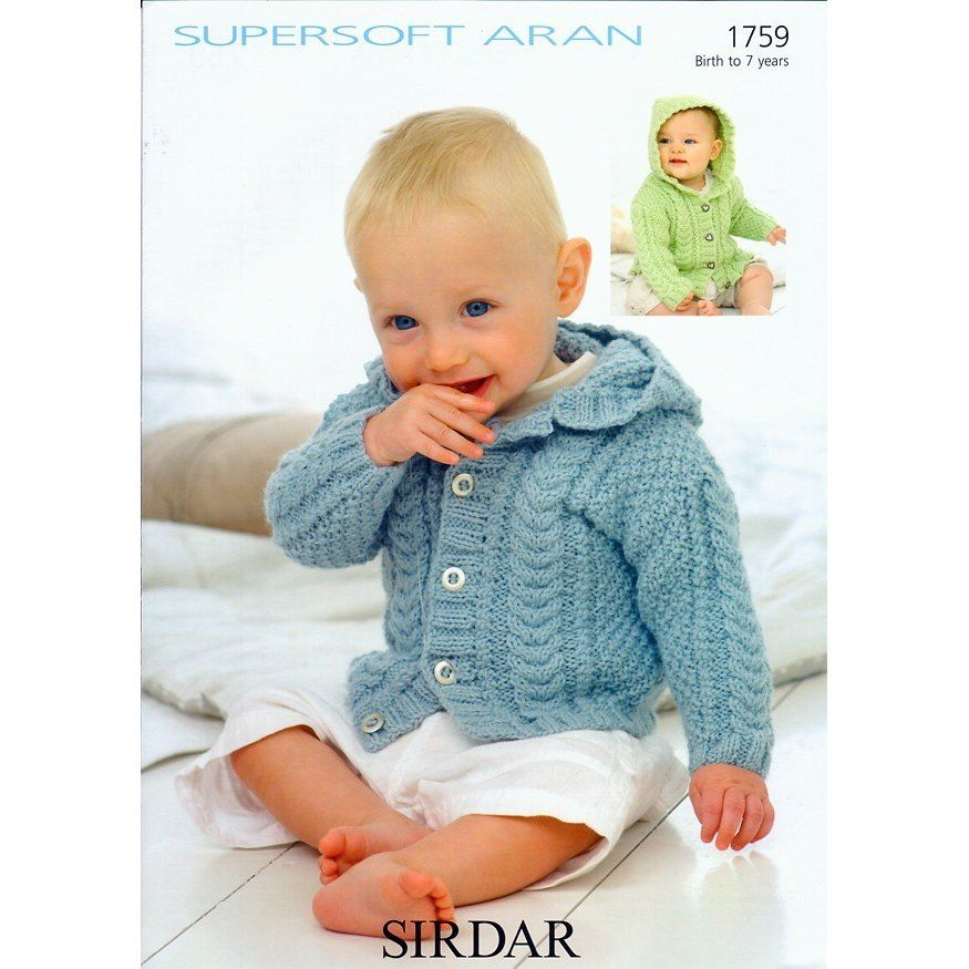 f2bac1b8357d04 A marvellous Sirdar hooded cardigan knitting pattern for babies and  children