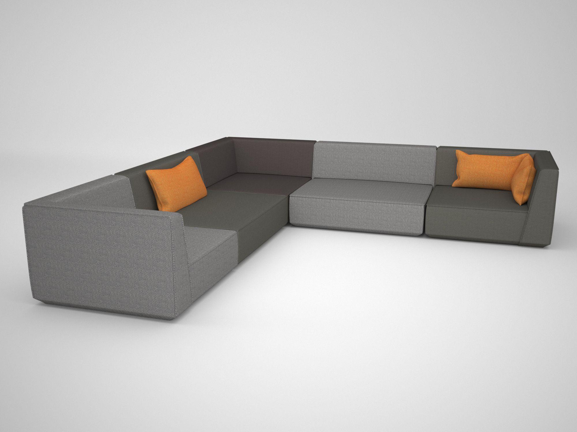 Unglaublich Sofa L Form Grau Sammlung Von Puristisches Ecksofa In L-form / Streamlined Corner