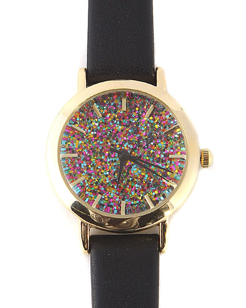 Kate Colorful Glitter Watch Perfect Arm Candy...available at www.ShopTheShoppingBag.com