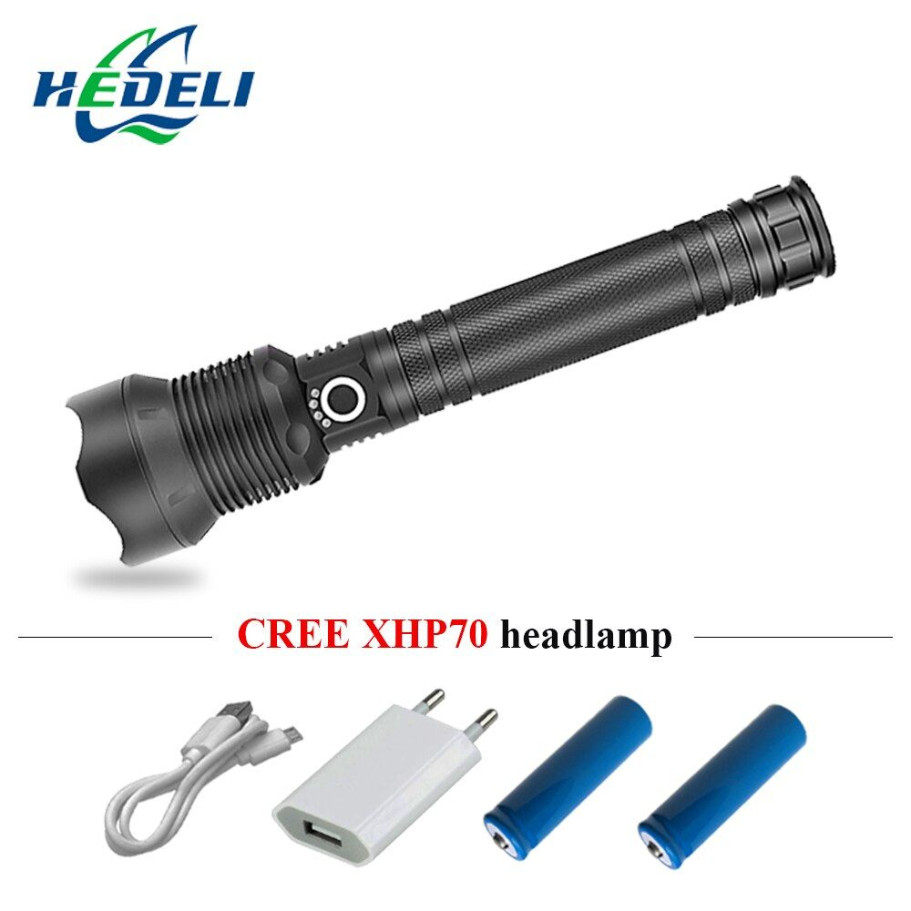 Super Bright Zoomble Led Flashlight 18650 Or 26650 Cree Xhp70 Torch Flashlight Usb Rechargeable Lampe Torche Hunting Usb Rechargeable Led Flashlight Flashlight