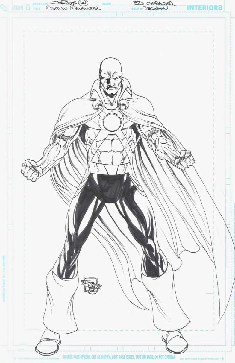 Coloring Pages Of Martians Martian Manhunter Coloring