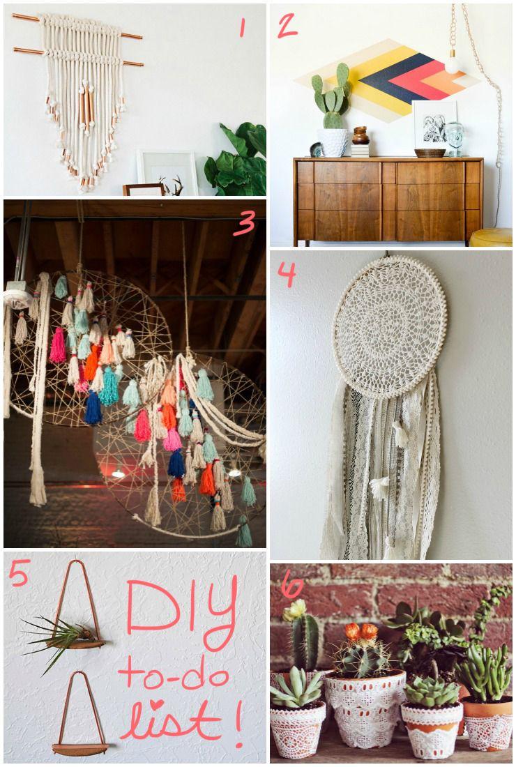 My Southwestern Decor Diy To Do List Southwestern Decorating Boho Bedroom Diy Diy Wall Decor For Bedroom Boho bedroom ideas diy