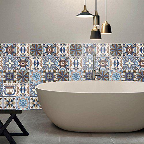 7 99 25pcs Self Adhesive Tile Art Wall Decal Sticker Diy Kitchen Bathroom Decor Vinyl Vintage Removable Sticker Bathroom Wall Art Diy Wall Decals Diy Tile