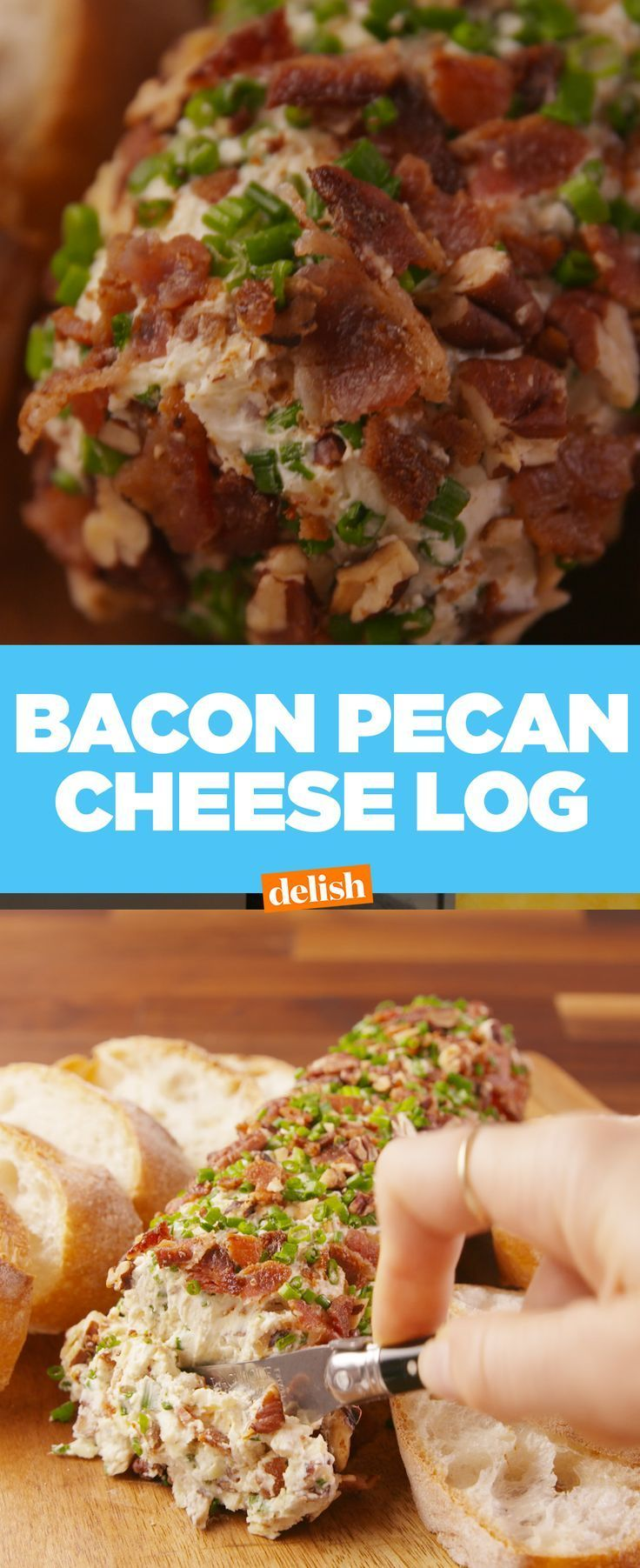 Bacon Pecan Cheese Log - -