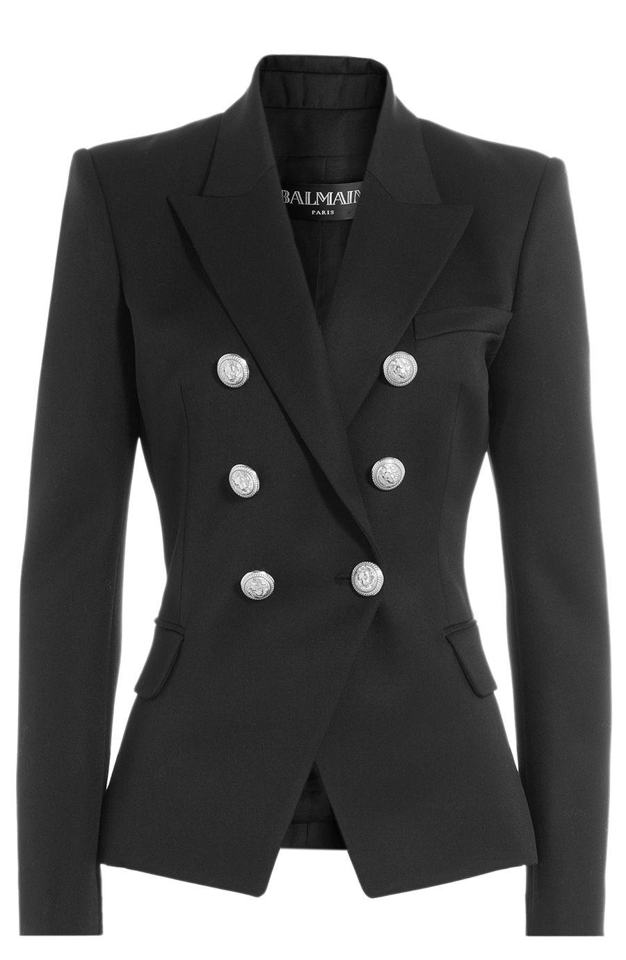 1ac061a99 BALMAIN Wool Blazer With Embossed Buttons. #balmain #cloth #blazer ...