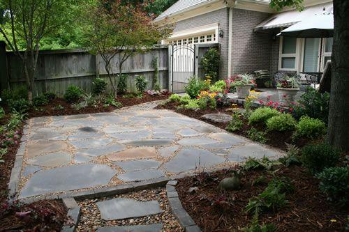 Harrington Residence   Blue Stone Flagstone Patio With Pea Gravel And Sand  Joints U0026 Cut Stone