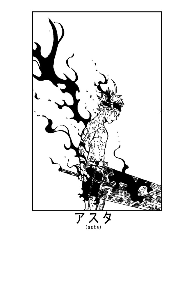 Asta Demon Form Black Clover By Anime Styles Redbubble Black Clover Anime Black Clover Manga Anime Style