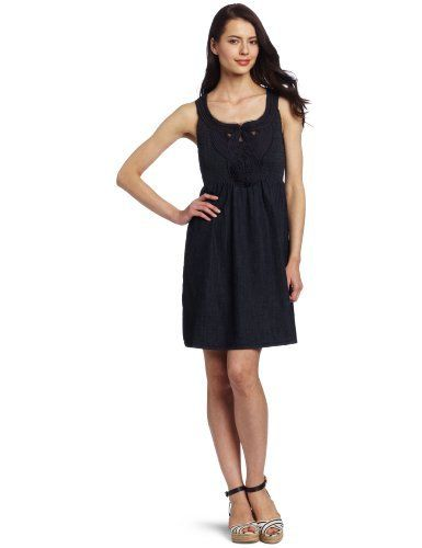 Reviews Calvin Klein Jeans Womens Petite Denim Dress Rinse Petite