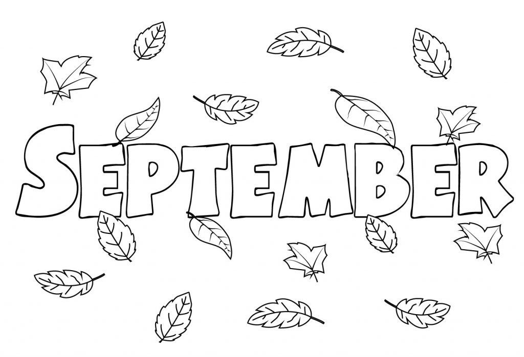 September Coloring Pages Coloring Pages To Print Coloring Pages