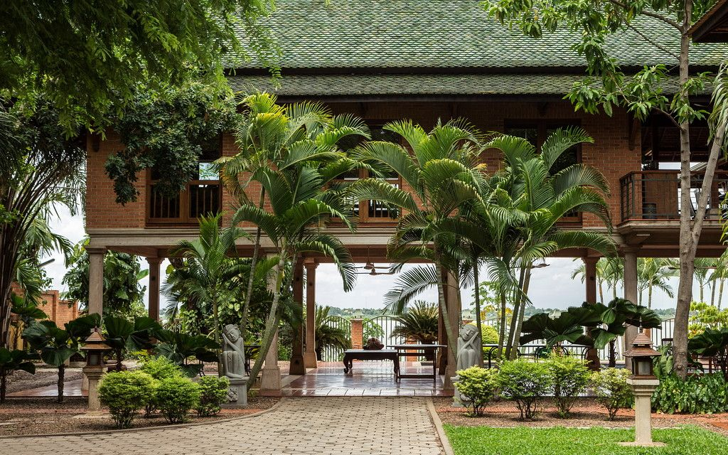 Asia House of the Day A Brick House in Cambodia—Photos is part of Asian house - Bricks, stilts and archways are just a few features of this PanAsianinspired home that sits along the Mekong River in Cambodia