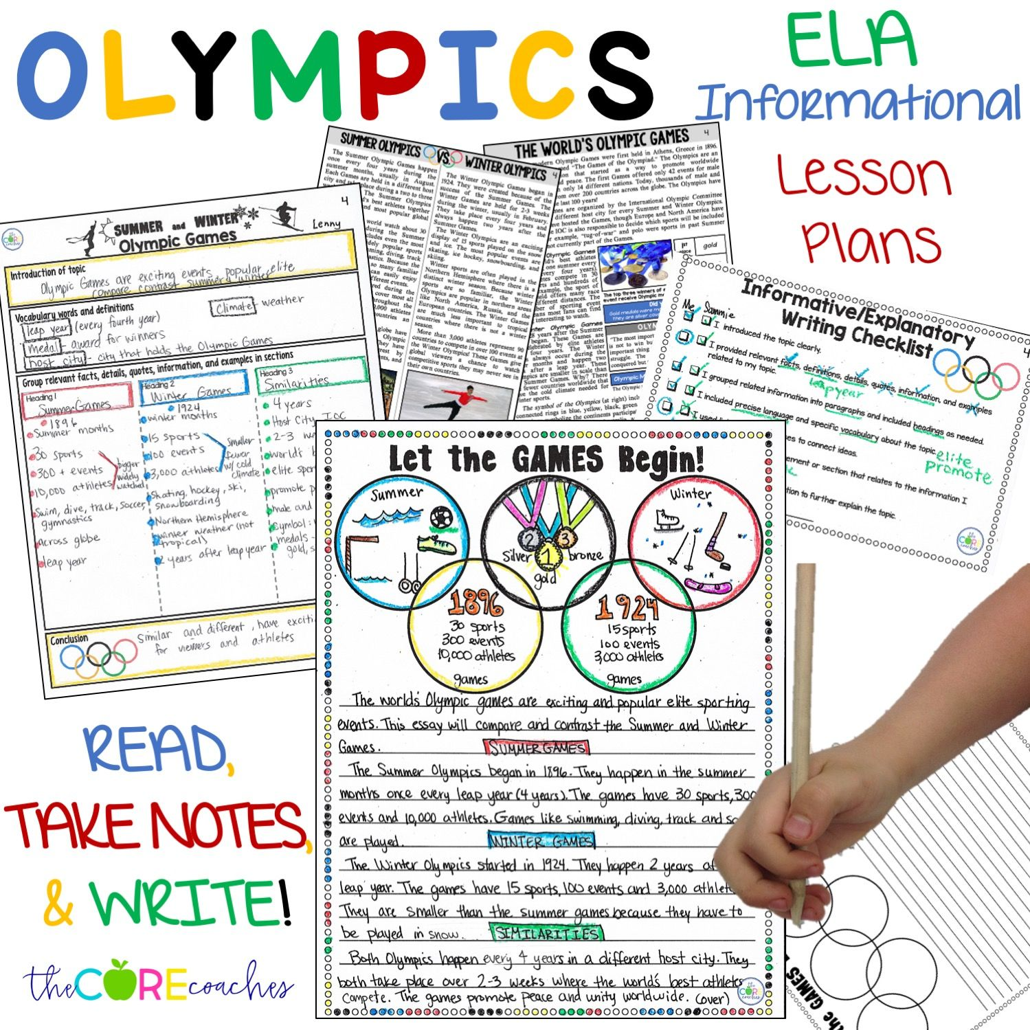 Ela Lesson Plans Guide Students To Read About The Olympics Texts