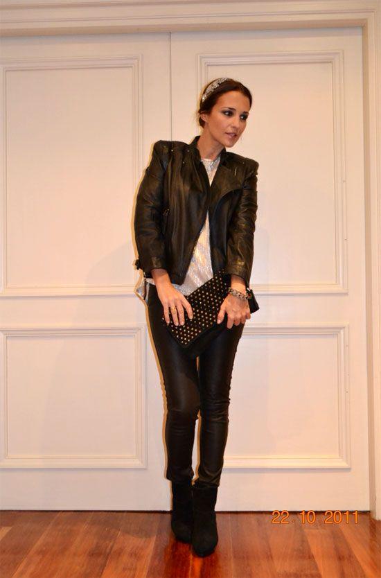 Metalizados leather and fashion for Look para cena informal amigas
