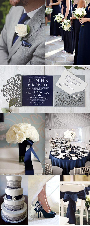 As Low 269 Grey And White Elegant Modern Laser Cut Wedding Invitations: Blue And Silver Elegant Wedding Invitations At Websimilar.org