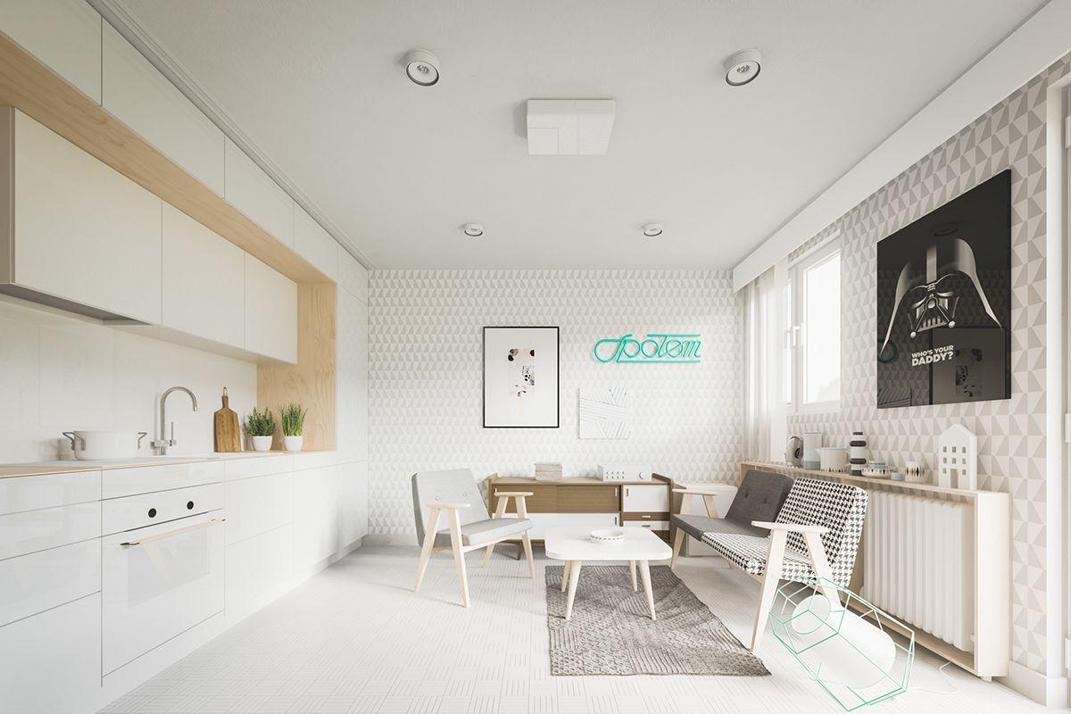 am nager un appartement de 60m2 avec un style scandinave style scandinave appartements et style. Black Bedroom Furniture Sets. Home Design Ideas