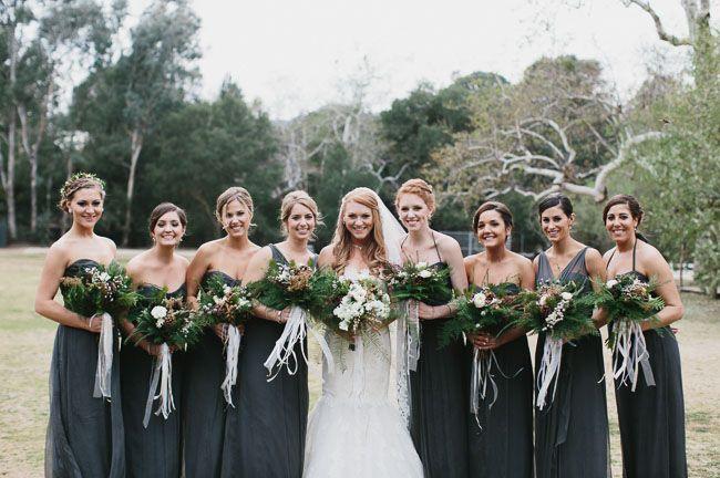 Romantic Malibu Forest Wedding Kate Ryan Forest Green