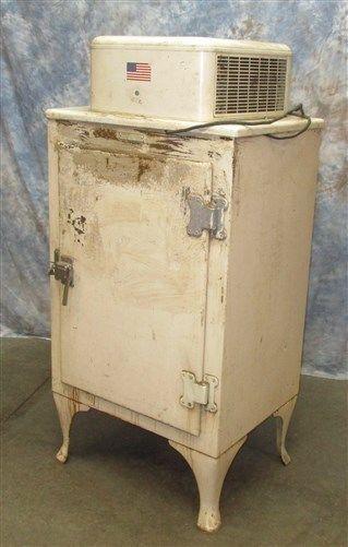 Vintage 1930s General Electric Monitor Top Refrigerator Door Fridge Ice Box Antique Ice Box Ice Box Top Refrigerator