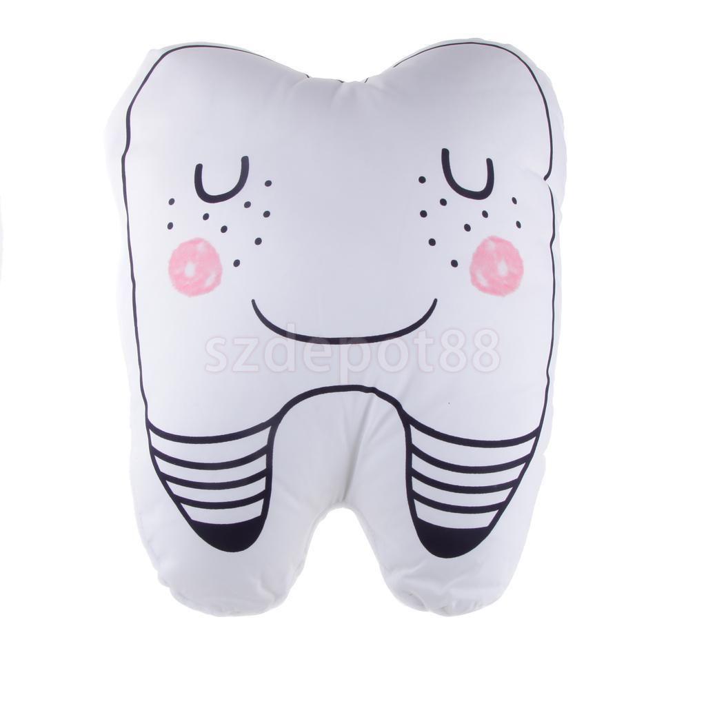 Lovely stuffed soft plush tooth cushion waist pillow chair sofa