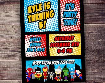 Quick ship super hero birthday invitation spiderman ironman quick ship super hero birthday invitation spiderman ironman batman free party filmwisefo
