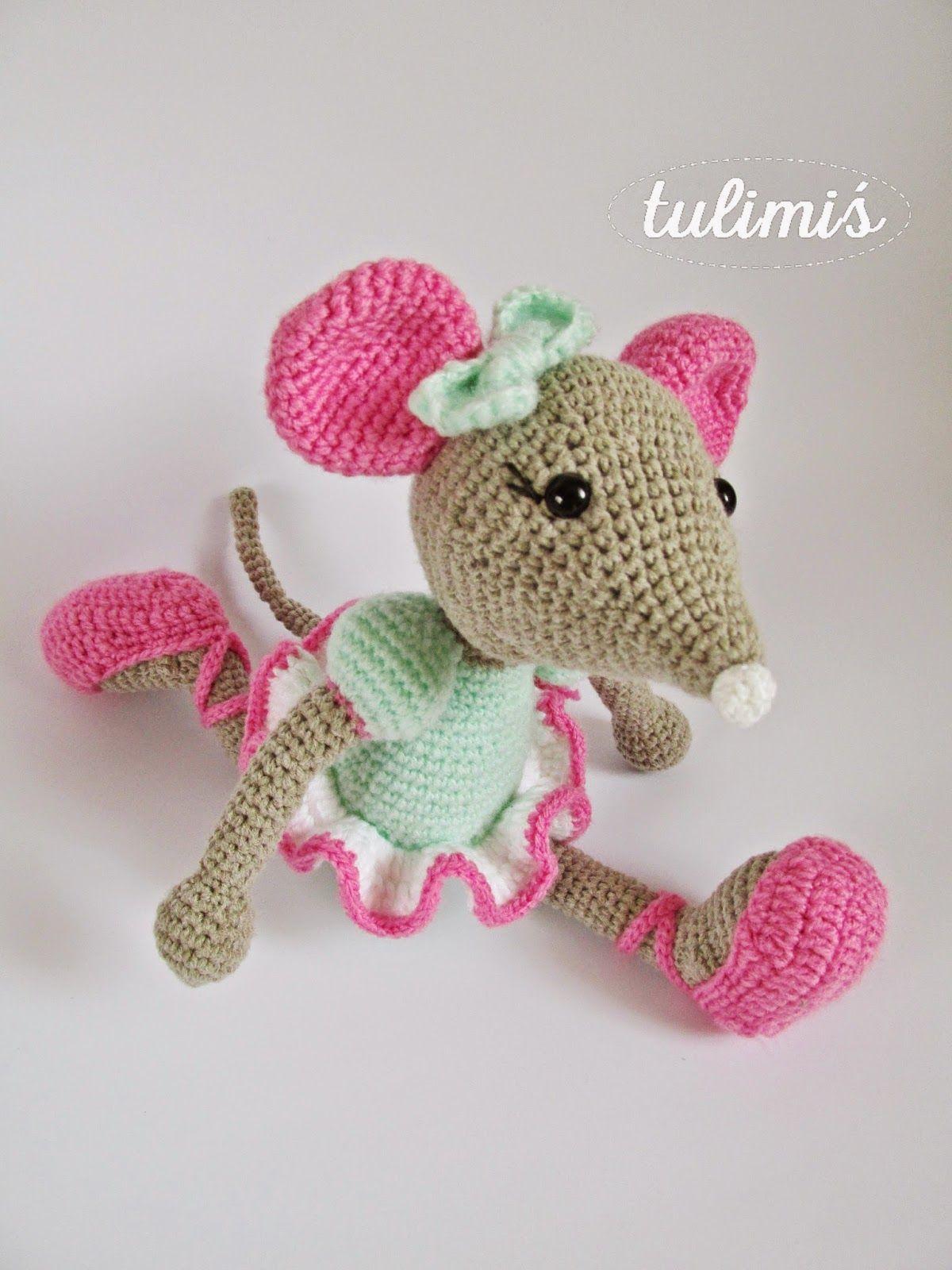 TuliMiś amigurumi ballerina mouse | Amigurumi | Pinterest ...