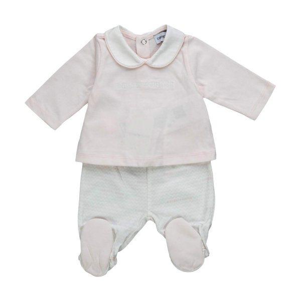 ad0e83b212a6 Esclusivo completo composto da maglia e pantalone firmato Armani  Junior,della nuova Collezione Autunno Inverno