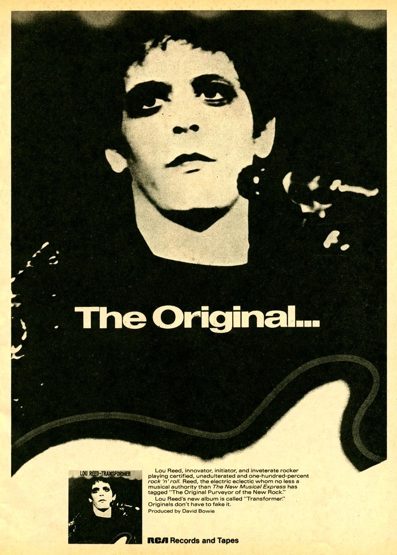 LOU REED poster...