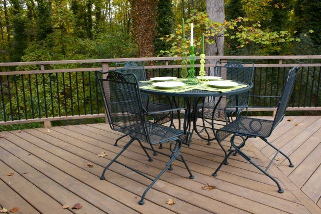 Iron Table · Wrought Iron Deck Furniture, Outdoor Dining ...