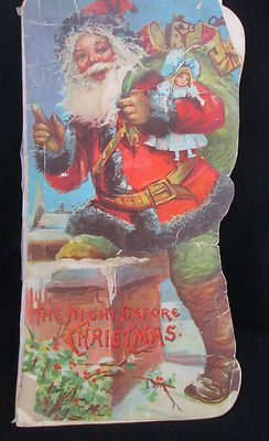 Night Before Christmas 1901 book written by Raphael Tuck Beautifully Illustrated Classic