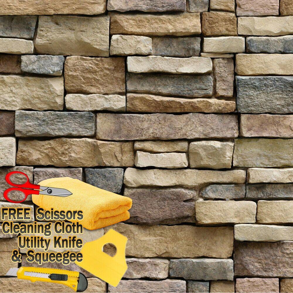 3D Stone Rock Wallpaper Background Modern Vinyl Film