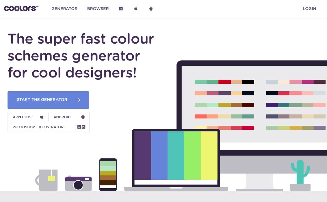 Coolors - The super fast color schemes generator