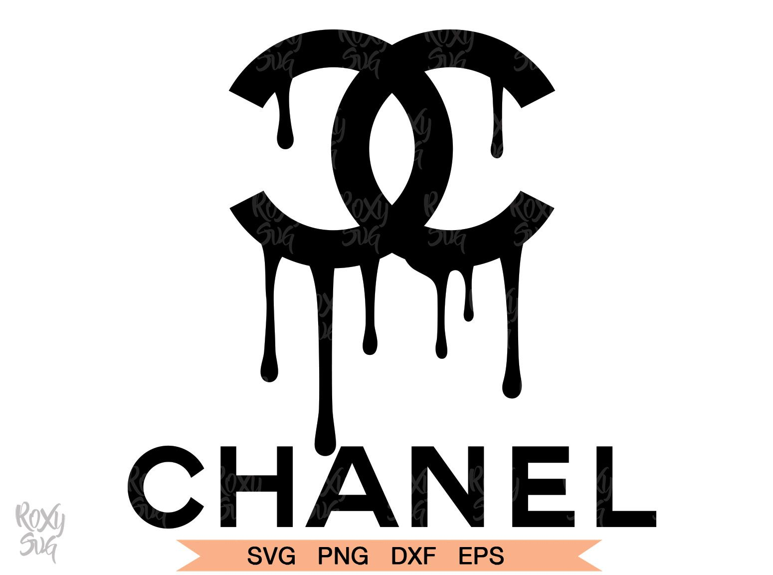 Chanel Drip Logo Chanel Dripping Logo Graphic By Roxysvg26 Creative Fabrica Cricut Svg Files Free Svg Files For Cricut Chanel Art Print